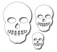Frantic Stamper - Precision Dies - Skulls (set of 3)
