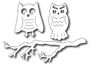 Frantic Stamper - Precision Dies - Spooky Owls and Branch (Set of 3)