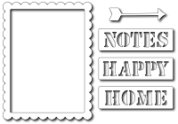 Frantic Stamper - Precision Dies - Notes Scalloped Journal Card (set of 5)