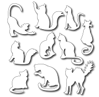Frantic Stamper - Precision Dies - Ten Fun Felines (set of 10)