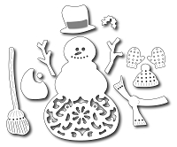 Frantic Stamper - Precision Dies - Twigs the Snowman (set of 12 pieces)
