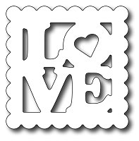 Frantic Stamper Precision Cutting Die - Love Postage Stamp