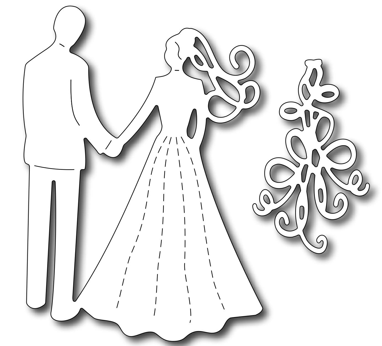 Frantic Stamper Precision Cutting Die - Wedding Day