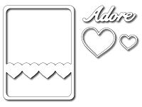 Frantic Stamper - Precision Dies - Adore 3x4 Photo Card (set of 4 dies)