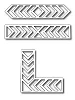 Frantic Stamper - Precision Dies - Chevron Accents (set of 3 dies)