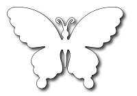Frantic Stamper - Precision Dies - Solid Butterfly