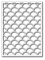 Frantic Stamper - Precision Dies - Fish Scales Card Panel