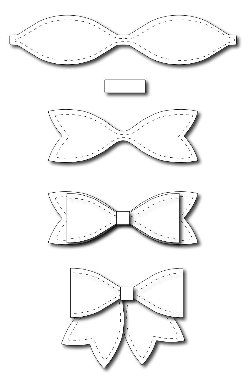 Frantic Stamper Precision Dies Large Solid Paper Bow