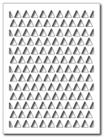 Frantic Stamper Precision Die - Triangle Card Panel