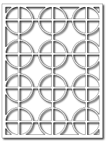 Frantic Stamper Precision Die - Circle Cross Card Panel