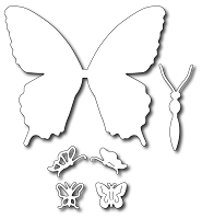Frantic Stamper Precision Die - Large Solid Swallowtail + Butterfly icons