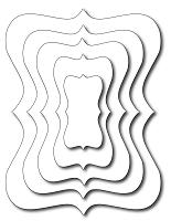 Frantic Stamper Precision Die - Bracket Labels In-Betweens (set of 5 dies)
