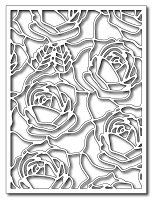 Frantic Stamper Precision Die - Blooming Roses Card Panel