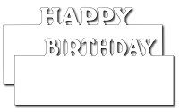 Frantic Stamper Precision Die - Happy Birthday Layer Makers (set of 2 dies)