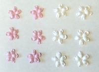 Frantic Stamper - Mulberry Paper Flowers - Impalla - Baby Pink / White