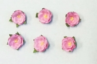 Frantic Stamper - Mulberry Paper Flowers - Small Wild Rose - Baby Pink