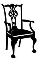 Frantic Stamper Cling-Mounted Rubber Stamp - Chair