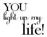 Frantic Stamper Cling-Mounted Rubber Stamp - You Light Up My Life