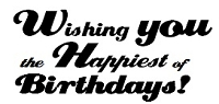 Frantic Stamper Cling-Mounted Rubber Stamp - Wishing You the Happiest
