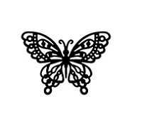 Frantic Stamper Cling-Mounted Rubber Stamp - Loopy Butterfly