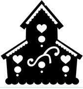 Frantic Stamper Cling-Mounted Rubber Stamp - Tall bird house