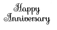Frantic Stamper Cling-Mounted Rubber Stamp - Happy Anniversary