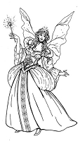 Frantic Stamper Cling-Mounted Rubber Stamp - Fairy Godmother