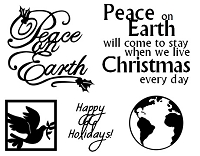 Frantic Stamper Un-Mounted Rubber Stamp - Peace On Earth