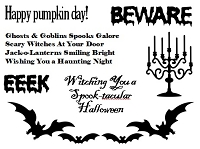 Frantic Stamper Un-Mounted Rubber Stamp - Pumpkin Day