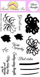 Frantic Stamper Clear Stamp Set - 3-Step Chrysanthemums