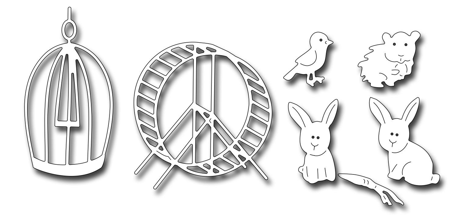 Image result for frantic stamper hamster, bunnies and bird
