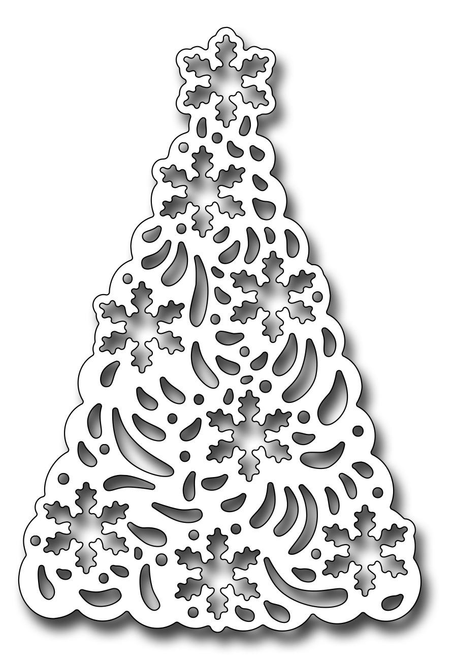 Frantic Stamper Precision Die - Snowflake Christmas Tree