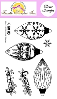 Frantic Stamper Clear Stamp Set - Pinecone Ornaments