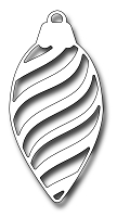 Frantic Stamper Precision Die - Striped Pinecone Ornament