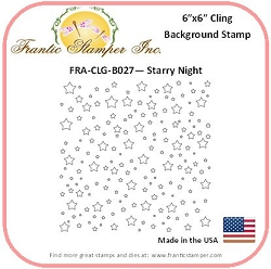 Frantic Stamper - 6x6 Background Rubber Stamp - Starry Night