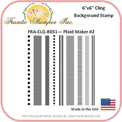 Frantic Stamper - 6x6 Background Rubber Stamp - Plaid Maker #2