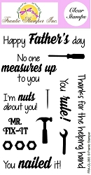 Frantic Stamper Clear Stamp Set - Tool Time Sentiments