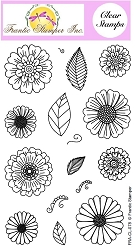 Frantic Stamper Clear Stamp Set - Fabulous Florals