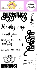 Frantic Stamper Clear Stamp Set - Blessings