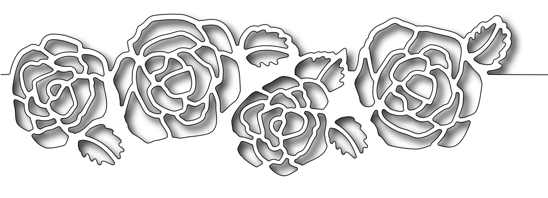 Frantic Stamper Precision Die Rose Cutout Border