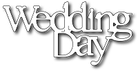 Frantic Stamper Precision Die - Wedding Day Words