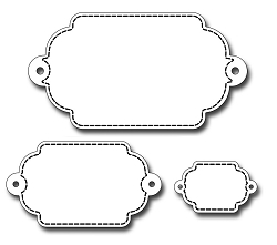 Frantic Stamper Precision Die - Nested Double Ended Tags