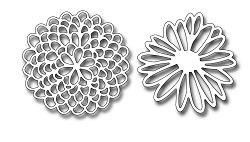 Frantic Stamper Precision Die - Lacey Blooms One