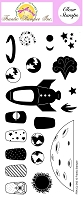 Frantic Stamper Clear Stamp Set - The Final Frontier (4