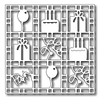 Frantic Stamper Precision Die - Birthday Grid
