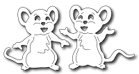 Frantic Stamper Precision Die - Cute Mice (set of 2 dies)