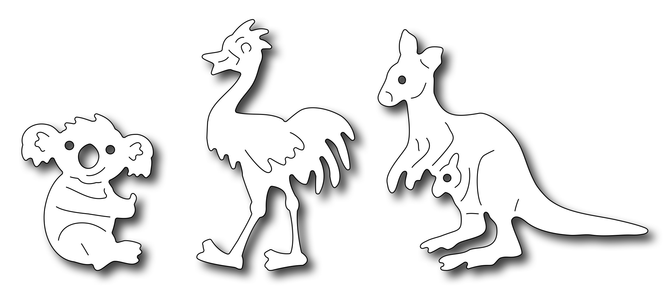 frantic stamper precision die noah u0027s australian animals set of