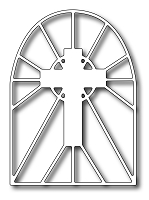 Frantic Stamper Precision Die - Stained Glass Cross
