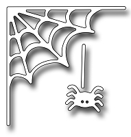 Frantic Stamper Precision Die - Spiderweb Corner And Spider