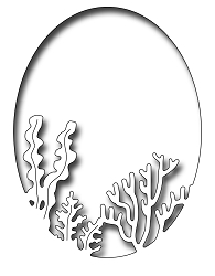Frantic Stamper Precision Die - Coral And Seaweed Oval